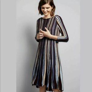 Anthropologie Moth Nora Midi Striped Sweater Dress